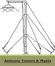 HF Antenna Mast-Tower Button